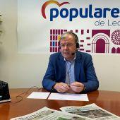 Antonio Silván, portavoz del grupo parlamentario popular en en Ayuntamiento de León