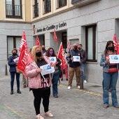 Manifestación de los trabajadores de los comedores escolares