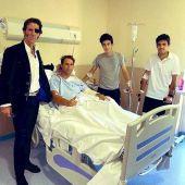 Juan José Padilla junto a los toreros heridos en Vistalegre por fuertes cogidas