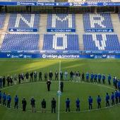 Homenaje del Real Oviedo a Arnau