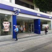 Trabajadores de BBVA de Extremadura se concentran este martes en Badajoz convocados por CCOO para rechazar el ERE