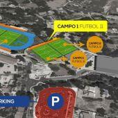 Plano Campos fútbol Alfaz