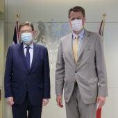 Ximo Puig y el embajador del Reino Unido