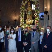 Las autoridades con la Virgen de Alarcos