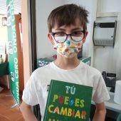 Alejandro, ganador de la categoría A del concurso 'No hay Planeta B'