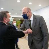 García-Page saluda al Secretario de Estado de Infraestructuras portugués