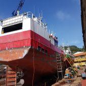 L'Espoir II en el varadero de Ferrol