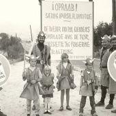 Daneses en su visita al pueblo de Granada, que estuvo casi 200 años enfrentado al país nórdico, listos para firmar el armisticio