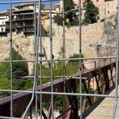 El puente de San Pablo de la ciudad de Cuenca sigue cortado tras el derrumbe