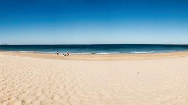 La playa de Santa Catalina, en El Puerto de Santa María