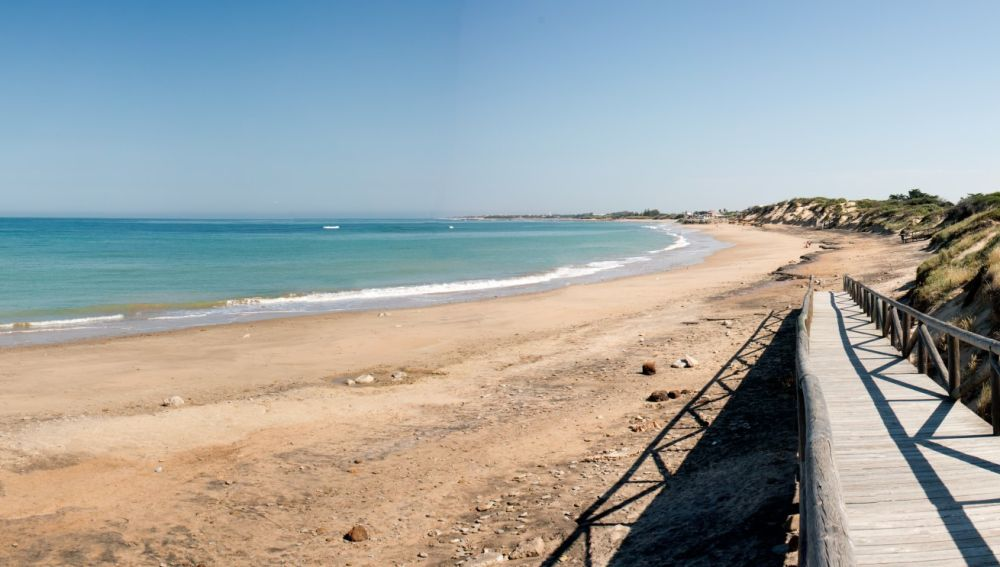 La playa de Punta Candor, en Cádiz