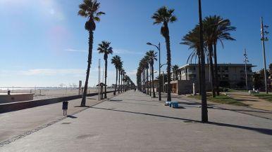 Paseo de la Playa de La Patacona en Alboraia, Valencia.