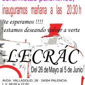 El Lecrac acoge una exposición de cinco ceramistas palentinos
