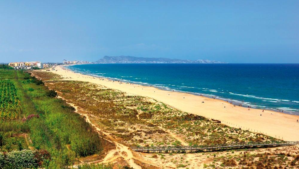 Playa Auir en Gandía, Valencia.