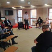 Un momento del encuentro celebrado en la Sala de Prensa del Ayuntamiento