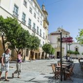 Una céntrica plaza de Cádiz