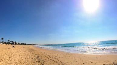 La playa de La Barrosa, en Chiclana