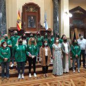 Recepción al Deportivo Liceo en María Pita, tras ascenso a la Ok Liga femenina
