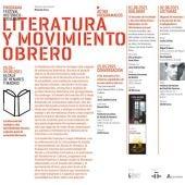 Cartel del Festival Literatura y Movimiento Obrero
