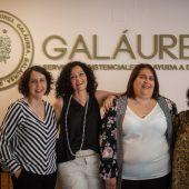 Marta Blanco en Galáurea con parte de su equipo