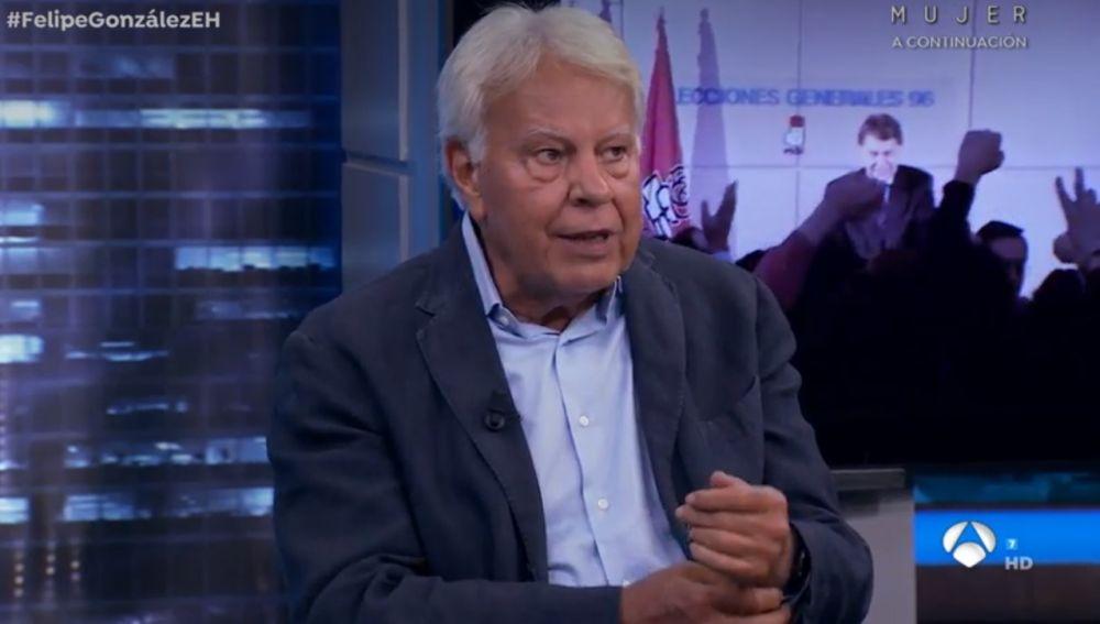 Felipe González en su visita a 'El Hormiguero 3.0'