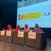 Representantes instituciones en la presentación del concurso del Nudo de Andorra