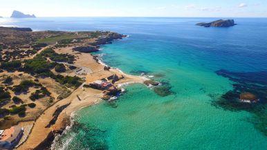 Playa Platges de Comte (Sant Josep de Sa Talaia, Ibiza)