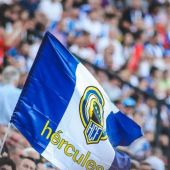 Bandera del Hércules CF de Alicante