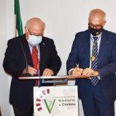 Jesús Aguirre, Consejero de Salud y Familias y Presidente del Consejo Andaluz de Colegios Oficiales de Veterinarios, Fidel Astudillo