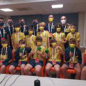 El equipo alevín del Villarreal de La Liga Promises