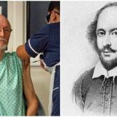 Una presentadora de la televisión argentina confunde la muerte del segundo vacunado de COVID con la del dramaturgo William Shakespeare