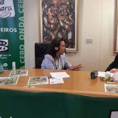 María Ramallo, alcaldesa de Marín, con Esther Eiros en Gente Viajera