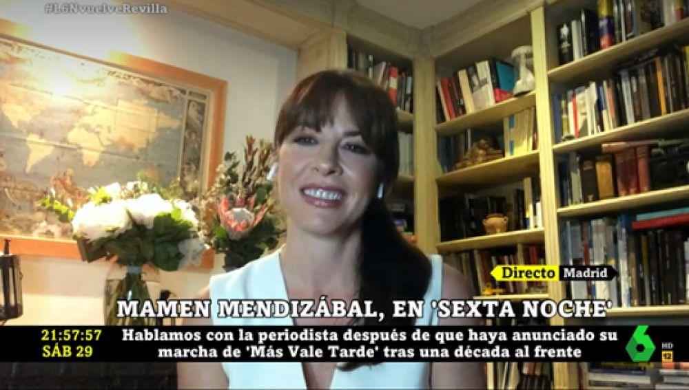 Mamen Mendizábal explica los motivos por los que deja 'Más vale tarde' y da algunas pistas sobre su futuro