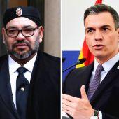 Mohamed VI y Pedro Sanchez