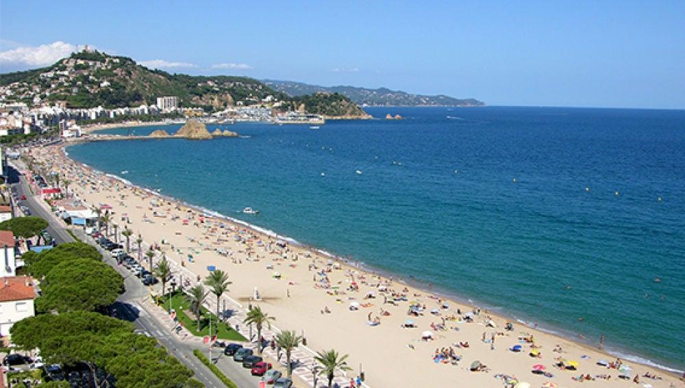 Playa S'Abanell (Blanes, Girona)