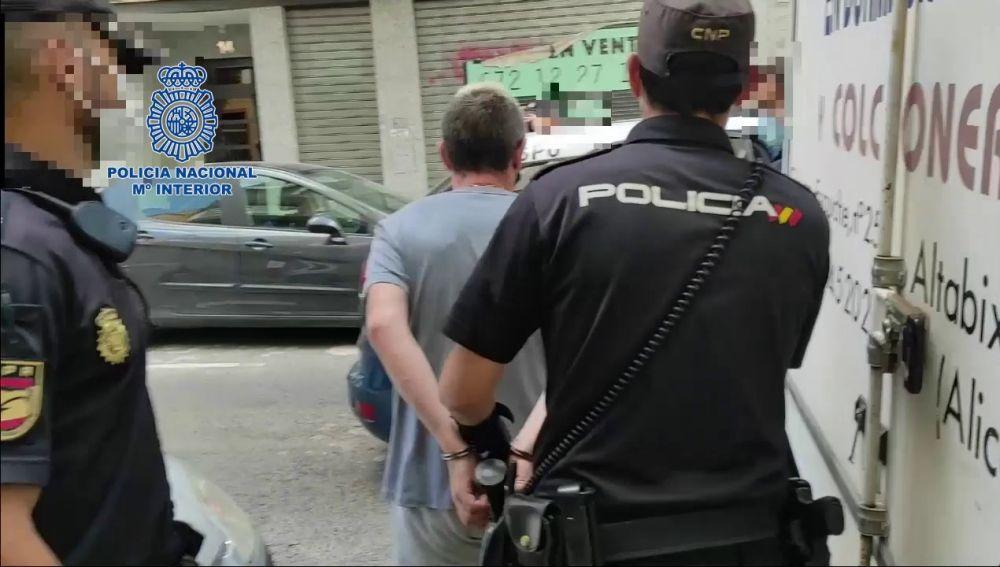 Uno de los detenidos en Elche.