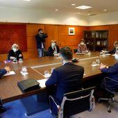 Reunión de los socios de la Zalia con el presidente de Sepides