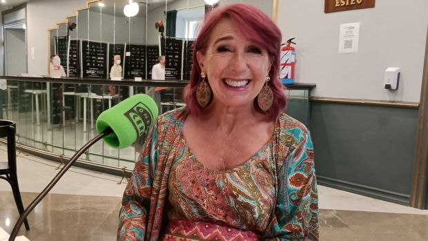 La actriz Gracia Olayo, durante su entrevista con Kinótico en el Festival de Málaga
