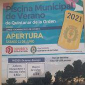 """¿Cuándo abre la piscina municipal en Quintanar de la Orden"""""""