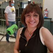La directora Judith Colell, durante su entrevista con Kinótico en el Festival de Málaga