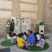 Escolares de Valdepeñas participan en la campaña de Ecovidrio