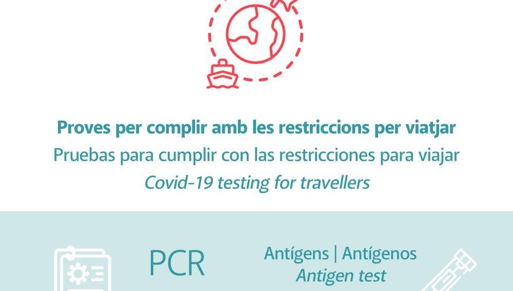 Formentera crea en su web un apartado con información sobre las pruebas de Covid necesarias para viajar