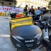 """"""" Riders"""" se manifiestan en Vigo"""