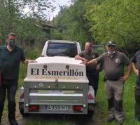 El Esmerillón suelta 9.000 alevines de trucha en dos ríos colungueses
