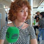 La directora Carol Rodríguez Colás, durante su entrevista con Kinótico en el Festival de Málaga