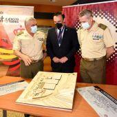 Presentación de la maqueta de la base logística del ejército