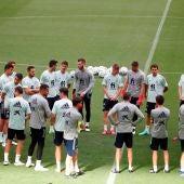Entrenamiento de la selección española de fútbol.