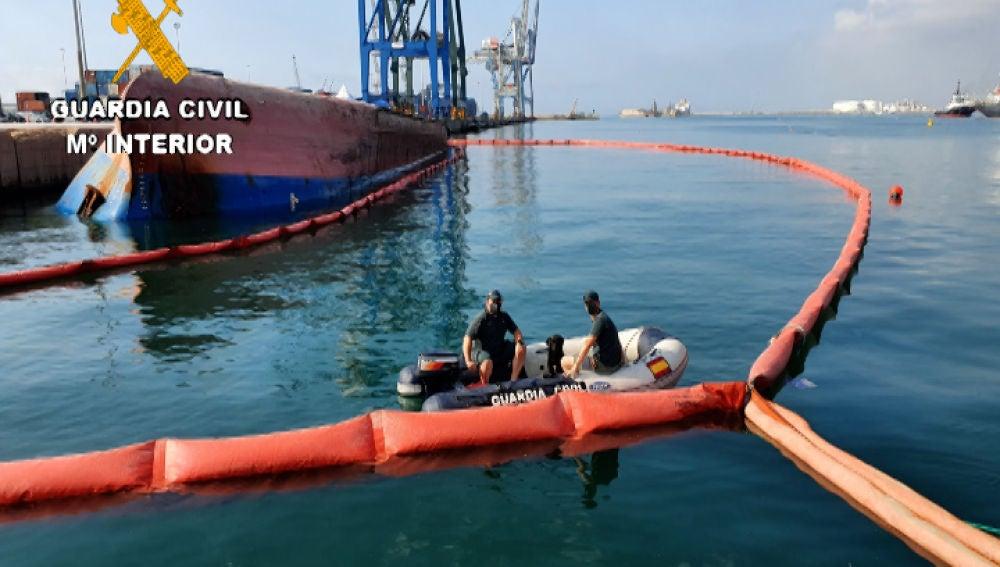 Puerto de Castellón: se incorporan dos perros especialistas en la búsqueda del estibador desaparecido.