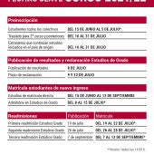 Fechas importantes para el curso 2021-22 en la UCLM