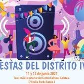Cartel Fiestas del Distrito IV de Alcalá de Henares